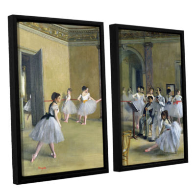 Brushstone The Dance Foyer at The Opera on The RueLe Peletier 2-pc. Floater Framed Canvas Wall Art