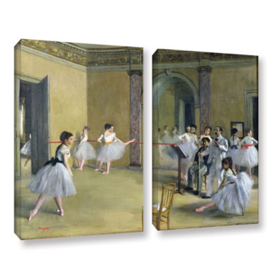 Brushstone The Dance Foyer at The Opera on The RueLe Peletier 2-pc. Gallery Wrapped Canvas Wall Art