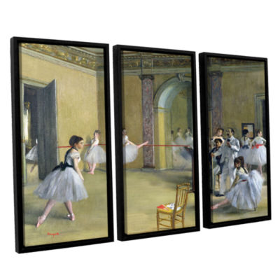 Brushstone The Dance Foyer at The Opera on The RueLe Peletier 3-pc. Floater Framed Canvas Wall Art