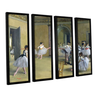 Brushstone The Dance Foyer at The Opera on The RueLe Peletier 4-pc. Floater Framed Canvas Wall Art