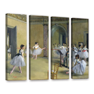 Brushstone The Dance Foyer at The Opera on The RueLe Peletier 4-pc. Gallery Wrapped Canvas Wall Art