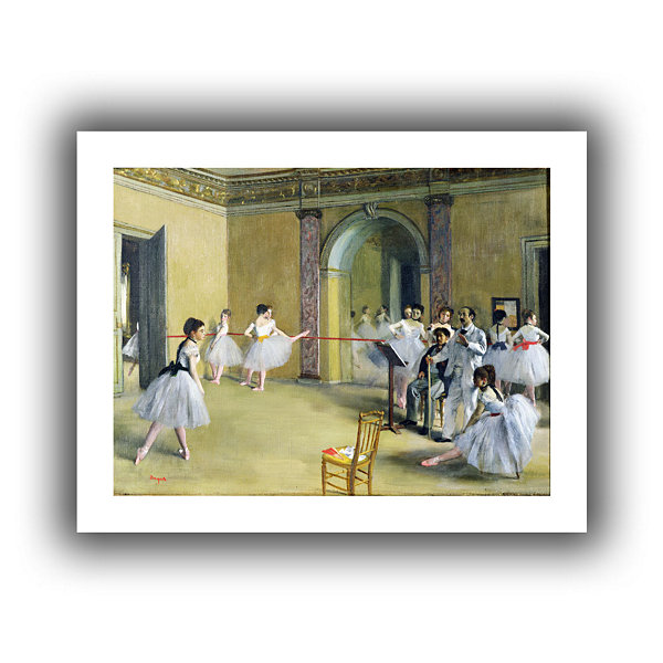 Brushstone The Dance Foyer at The Opera on The RueLe Peletier Canvas Wall Art