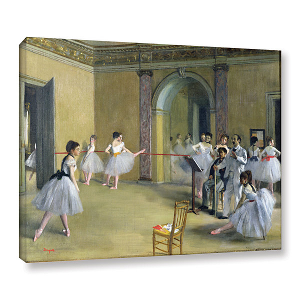 Brushstone The Dance Foyer at The Opera on The RueLe Peletier Gallery Wrapped Canvas Wall Art