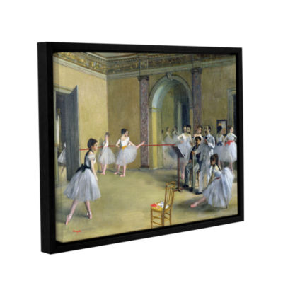 Brushstone The Dance Foyer at The Opera on The RueLe Peletier Gallery Wrapped Floater-Framed CanvasWall Art
