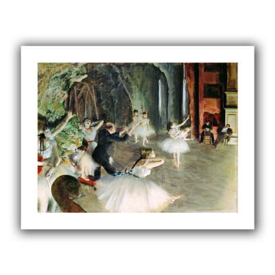 Brushstone The Rehearsal of The Ballet on Stage Canvas Wall Art