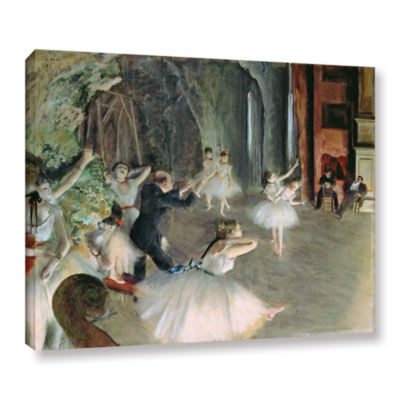 Brushstone The Rehearsal of The Ballet on Stage Gallery Wrapped Canvas Wall Art