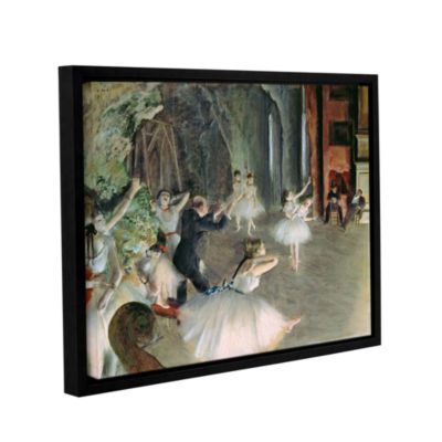 Brushstone The Rehearsal of The Ballet on Stage Gallery Wrapped Floater-Framed Canvas Wall Art
