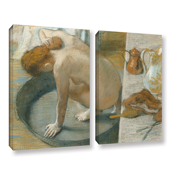 Brushstone The Tub 2-pc. Gallery Wrapped Canvas Wall Art