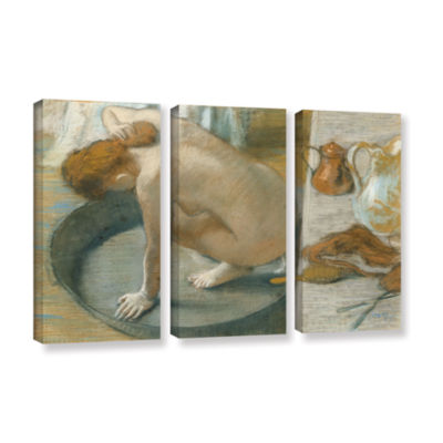 Brushstone The Tub 3-pc. Gallery Wrapped Canvas Wall Art