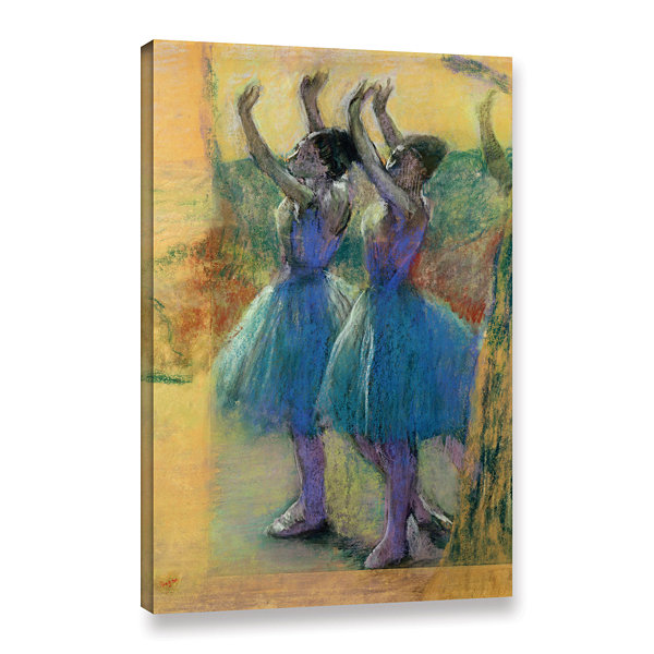 Brushstone Two Blue Dancers Gallery Wrapped CanvasWall Art