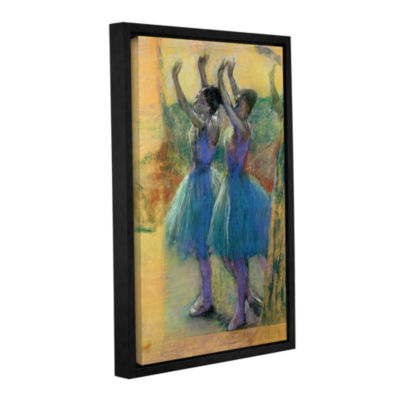 Brushstone Two Blue Dancers Gallery Wrapped Floater-Framed Canvas Wall Art