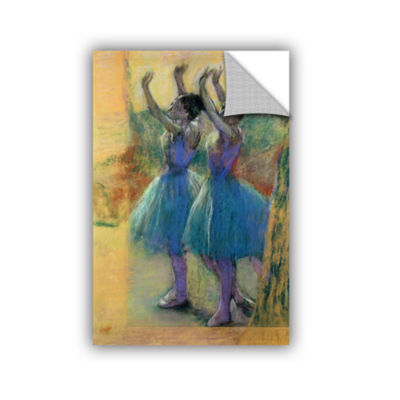 Brushstone Two Blue Dancers Removable Wall Decal