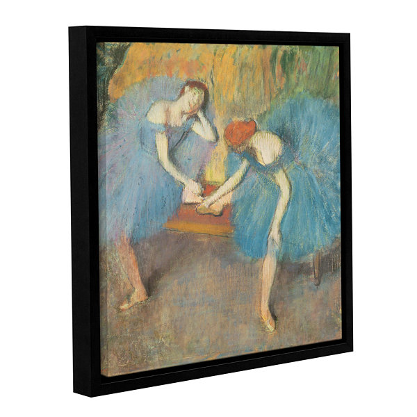 Brushstone Two Dancers at Rest Gallery Wrapped Floater-Framed Canvas Wall Art