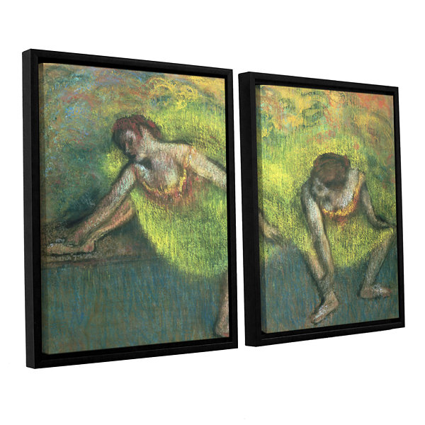 Brushstone Two Dancers Relaxing 2-pc. Floater Framed Canvas Wall Art