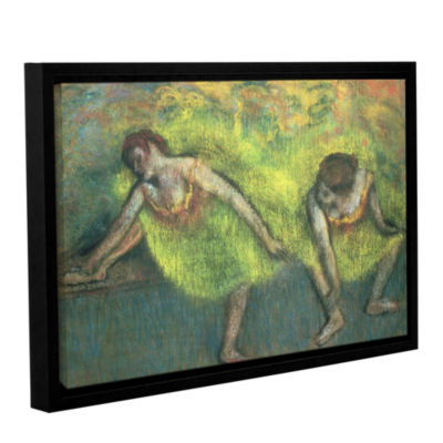 Brushstone Two Dancers Relaxing Gallery Wrapped Floater-Framed Canvas Wall Art