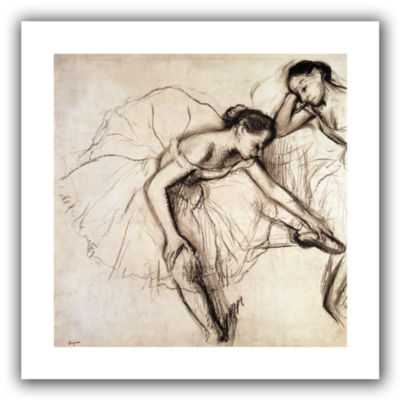 Brushstone Two Dancers Resting Canvas Wall Art