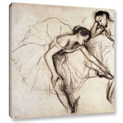 Brushstone Two Dancers Resting Gallery Wrapped Canvas Wall Art