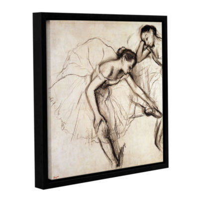 Brushstone Two Dancers Resting Gallery Wrapped Floater-Framed Canvas Wall Art