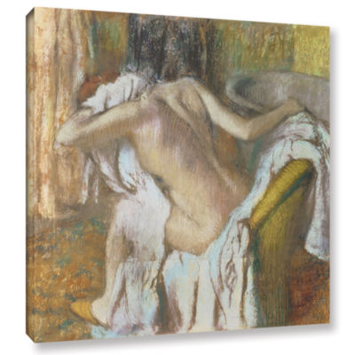 Brushstone Woman Drying Herself Gallery Wrapped Canvas Wall Art