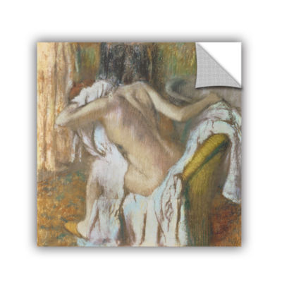 Brushstone Woman Drying Herself Removable Wall Decal