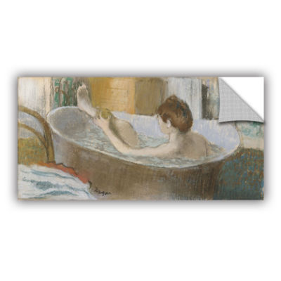 Brushstone Woman in Her Bath  Sponging Her Leg Removable Wall Decal
