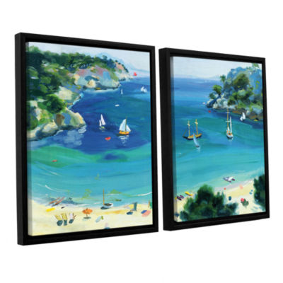 Brushstone Cala Galdana  Minorca 2-pc. Floater Framed Canvas Wall Art