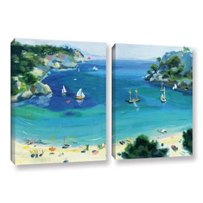 Brushstone Cala Galdana  Minorca 2-pc. Gallery Wrapped Canvas Wall Art