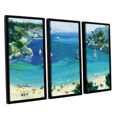 Brushstone Cala Galdana  Minorca 3-pc. Floater Framed Canvas Wall Art