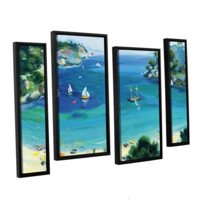 Brushstone Cala Galdana  Minorca 4-pc. Floater Framed Staggered Canvas Wall Art