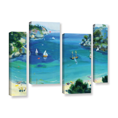 Brushstone Cala Galdana  Minorca 4-pc. Gallery Wrapped Staggered Canvas Wall Art