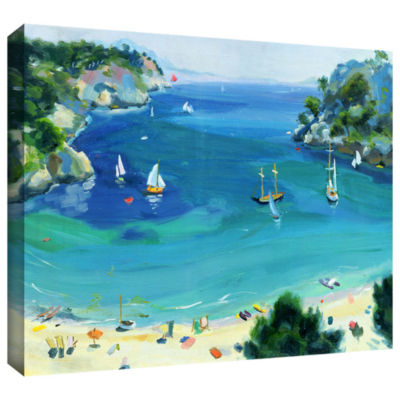 Brushstone Cala Galdana  Minorca Gallery Wrapped Canvas Wall Art