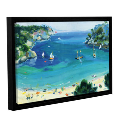 Brushstone Cala Galdana  Minorca Gallery Wrapped Floater-Framed Canvas Wall Art