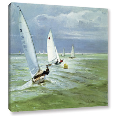 Brushstone Around The Buoy Gallery Wrapped CanvasWall Art