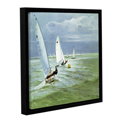 Brushstone Around The Buoy Gallery Wrapped Floater-Framed Canvas Wall Art