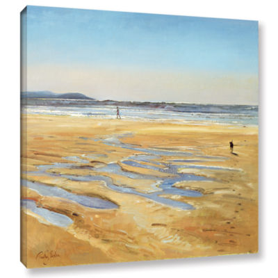 Brushstone Beach Strollers Gallery Wrapped CanvasWall Art