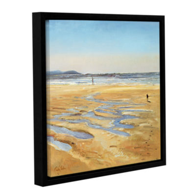 Brushstone Beach Strollers Gallery Wrapped Floater-Framed Canvas Wall Art