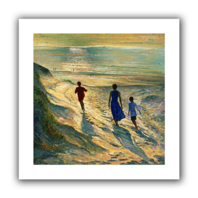 Brushstone Beach Walk Canvas Wall Art