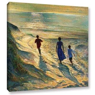 Brushstone Beach Walk Gallery Wrapped Canvas WallArt