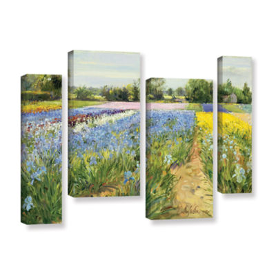 Brushstone Floral Chessboard 4-pc. Gallery WrappedStaggered Canvas Wall Art