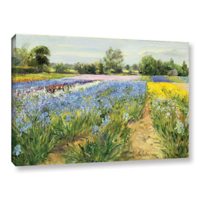 Brushstone Floral Chessboard Gallery Wrapped Canvas Wall Art
