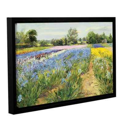 Brushstone Floral Chessboard Gallery Wrapped Floater-Framed Canvas Wall Art