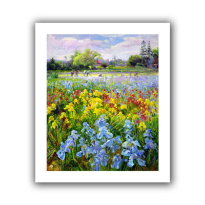 Brushstone Hoeing Team and Iris Fields Canvas WallArt