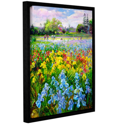 Brushstone Hoeing Team and Iris Fields Gallery Wrapped Floater-Framed Canvas Wall Art