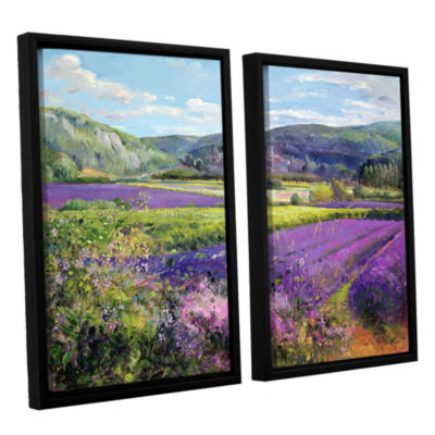 Brushstone Lavender Fields in Old Provence 2-pc. Floater Framed Canvas Wall Art