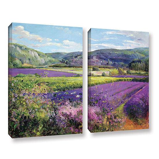 Brushstone Lavender Fields in Old Provence 2-pc. Gallery Wrapped Canvas Wall Art