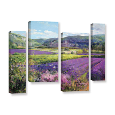 Brushstone Lavender Fields in Old Provence 4-pc. Gallery Wrapped Staggered Canvas Wall Art
