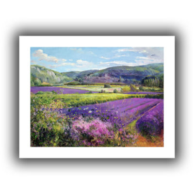 Brushstone Lavender Fields in Old Provence CanvasWall Art