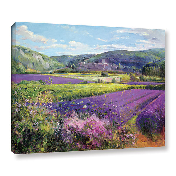 Brushstone Lavender Fields in Old Provence GalleryWrapped Canvas Wall Art