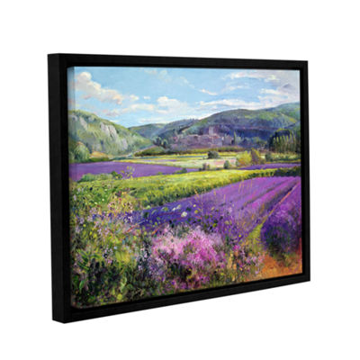 Brushstone Lavender Fields in Old Provence GalleryWrapped Floater-Framed Canvas Wall Art
