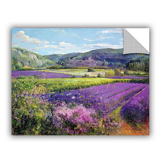 Brushstone Lavender Fields in Old Provence Removable Wall Decal